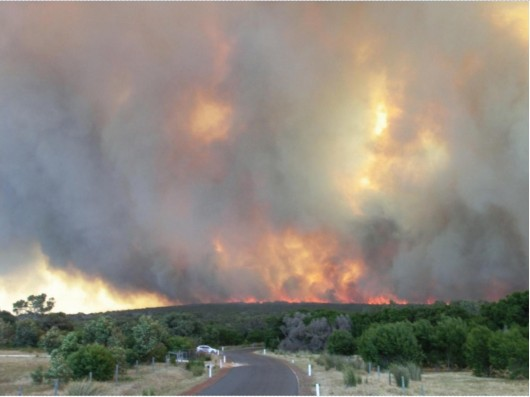 Bushfire in Margaret River WA
